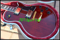 Wholesale 2014 OEM China Guitar New Style custom Red Wine Color Guitar EMS one piece neck No Scarf