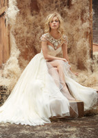 Free Shipping Sweetheart A- Line Pleat Long Chiffon Wedding D...