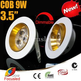Wholesale 2014 Newest inch W W LM LED Downlights Angle Tiltable Fixture Cabinet Recessed Ceiling Down Lights Power Supply Dimmable Non