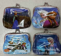 girls wallet frozen elsa anna printed cartoon children chang...