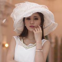 Las colmenas de las nuevas mujeres calientes que recortan el sombrero ancho del sombrero del borde de la flor de la tela del sombrero de la flor 100%