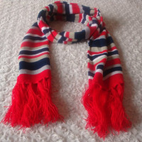 30cm the following adult shawl Autumn and winter scarf thermal stripe cape silk scarf skateboard red tassel