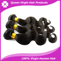 Wholesale Cheapest Top A grade Peruvian Human hair weft Body Wave Hair Extension unprocessed remy wavy human hair weave No Shedding