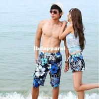 Wholesale swimwear Shorts for women men beach pants flower fashion New couple the shorts swimming Mens girls Board shorts