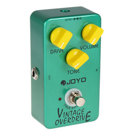 Wholesale Joyo Vintage Pedal with Knobs JF Vintage Overdrive Full Sound Guitar Pedal with True Bypass for Classic Tube screamer LIF_101