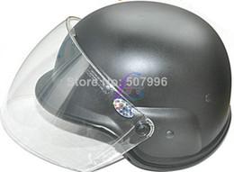 Wholesale Kevlar Airsoft Helmet - Motorcycle Helmets Airsoft M88 PASGT Kevlar Helmet w Visor Black D-1470