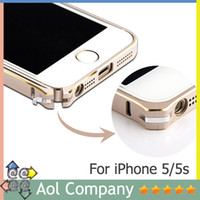 Wholesale New Fashion Thin mm Aluminum Bumper Frame Cover colors for iPhone S G Case Free screen protector
