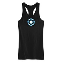 Wholesale Lycra clothing Good Quality Iron Man Iron Man I EL Tank Tops Sound Activated Manual control EL T shirt Led T shirt led Tank Tops EF229