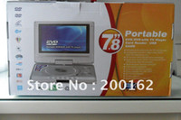 Cheap PORTABLE DVD PLAYER 7.8 INCH WIDESCREEN FREEVIEW TV TUNER w VIDEO GAMES 12V In Stock . straight hair CAR DHL.EMS.FedEx