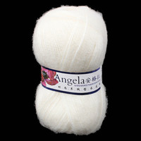 Yes JUNE White High Quality Luxury Angola Mohair Cashmere Wool Yarn Skein Angola Mohair Cashmere Wool Material