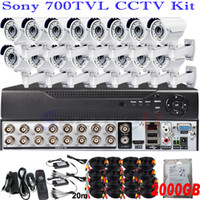 Wholesale Top selling rated ir infrared night vision whole set home security closed circuit surveillance system ch cctv D1 HD DVR kits