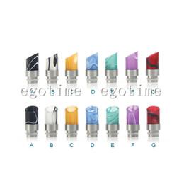Wholesale 20pcs MOQ Stainless Steel Acrylic Muffler Wide Bore Drip Tips fit Vivi nova glass rainbow drip tip Dct cartomizers Clearomizers
