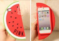 For Apple iPhone Silicone Green Fashion Colorful Summer watermelon Victoria Pink cell phone case for iPhone 4 4s iPhone 5 5s Samsung Galaxy Note 3 Free Shipping 50PCS UP
