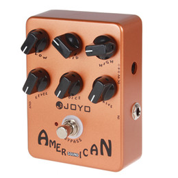 Wholesale 2pcs JF American Sound Effect Guitar Pedal with Fender Deluxe Amp Simulator and Unique Voice Control LIF_114