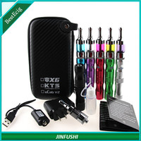 Black Metal  Ecig Case E Cigarette Zipper Case for KTS Kits X6 X7 Kits eCab V2 Electronic Cigarette