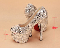 Wedding Heels Flat Heel 2014 Nice Silver Crystal Wedding Shoes High-heeled Rhinestone Bridesmaid Bridal Shoes Lady Shoe for Wedding Party Ball Prom Pageant Event