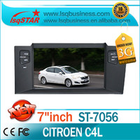 Wholesale Factory Price autoradio gps navigation Citroen C4 L car dvd player with bluetooth radio dual zone CD G