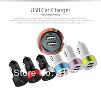 Colorful 2A+ 1A 3A dual usb port auto power adapter car charg...