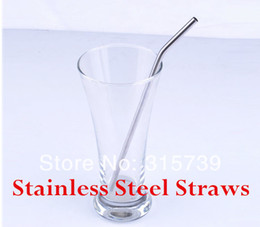 Wholesale Via Fedex EMS Quality Polished Stainless Steel Drinking Straw Stainless Steel Straws Metal Straw