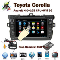 Wholesale 8 quot HD Touch Screen Car PC Android Car DVD for Toyota Corolla Wifi G GPS Bluetooth Radio TV USB SD PIP Steering wheel contrL