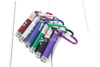 Wholesale LED Mini Flashlight Torch with Carabiner Key Chain mini Flashlight Red laser pointer flashlight mini in1 Key chain Lighting