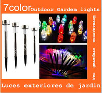 Wholesale Solar Power LED Color choice Stainless Steel Spot Light Landscape Outdoor Garden Path Lawn Lamp