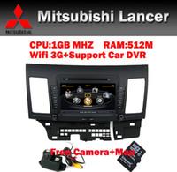 1 DIN mitsubishi tv - 8 quot HD Touch Screen Car DVD GPS for Mitsubishi Lancer Wifi G CPU1GB RAM512M Bluetooth Radio TV USB SD IPOD Free car Camera