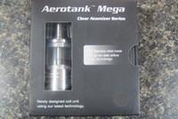 Wholesale Original Pyrex glass and Stainless steel Aerotank Mega atomizer vaporizer Aero Tank Mega Clearomizer with Upgraded BDC Dual Coil