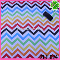 Wholesale New arrival Polyester cotton Chevron Desigual Brand fabrics women s dress Colorful cloth Baby cloth Wavy grain width is cm