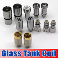 Wholesale 12 Different Metal Coil Head Replacement Core with Mesh for Glass Globe Wax Vaporizer Glass Dome Tank E Cigaratte Dry Herb Glass Atomizer