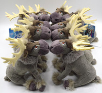 Wholesale 2014 NEW CM Frozen Reindeer Sven Plush new frozen Toys Doll Forzen stuffed Kristoff friend Sven toy for kids