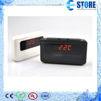 Wholesale 2014 LED Clock Hidden Camera V6 Voice Recorder Table Clock Mini Hidden DVR Camera with Motion Detect Function M