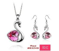 Bracelet,Earrings & Necklace Celtic Women's Promotion Valentine Day Crystal Jewelry Set Earrings Necklace evening dress fashion Jewelry set