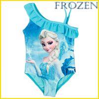 swimsuits - In Stock New Frozen Girl Swimsuit Anna Elsa Princess Beach Swimsuit Baby One Piece Swim Bodysuit Blue Fashion Bodysuit Swimsuit GZ GD23