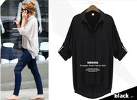 3/4 Sleeve Cotton  2014 New Spring Korean fashion basic clothing Perspective women casual chiffon blouse 3 colors available