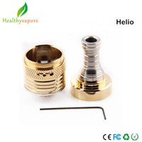 Replaceable 2.0ml Stainless Steel and PC Helio 3 atomizer helios ithaka RBA aios atomizer fit for chi you mod clone helio-3 helio atomizer clearomizer cartomizer WL-EC-229