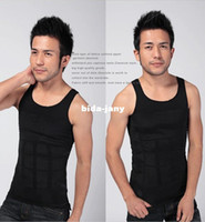 Men Boxers & Boy Shorts Christmas Wholesale-2014 fashion New Shapers for mens spandex bodysuit high Quality body girdles Body shaper man waist cincher lose weight vest