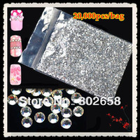 Wholesale mm or mm for you choose Glitter Clear Acrylic Hot Fix Nail Art Rhinestone For Nail Decoration