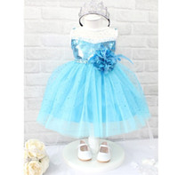 Newest Girls Dresses Frozen Children Summer Cartoon Elsa&amp...
