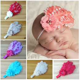 Wholesale -Hot sale baby girls feather headband Baby fashion hair band girl head accessories baby photography props 12pcs lot Free shipping