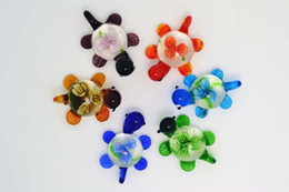 FREE wholesale Flower 3D Animal Turtle Murano Glass Bead Pendants FIT Necklaces Girl's Women's Jewelry pdt2