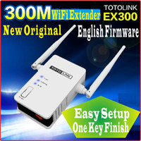 Wholesale One Key Finish Setup English Firmware Totolink EX300 AP Router Mbps WiFi Universal Repeater M WiFi Range Extender WiFi Amplifier