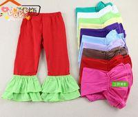 Trousers ruffle pants - Hot Sale Kid Wear Harem Pants Baby Pants Ruffle Baby Leggings Girls Ruffle Pants girl loose pants Y