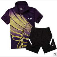 Wholesale 2014 Badminton Suit Table Tennis Balls Butterfly T Shirt and Shorts Men and Women Short Sleeve Blazer Sports Lover Couple