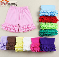 ruffle pants - Hot Sale Kid Wear beach Pants Baby Pants Ruffle Baby shorts pant Girls Ruffle Pants girl loose pants Y