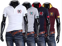 Men Cotton Polo M-XXL Size 2014 New Men tops,Large in Stock Size Good Quality Men 's Polo Shirt Short Sleeve T Shirt for Boy Men