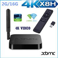 Wholesale MINIX NEO X8 H X8H X8 H K Android TV Box Amlogic S802 H Quad Core GHz GB RAM GB ROM XBMC Gotham Google Smart Mini PC Media Player