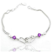 Women batch sterling silver - Sterling Silver Love bracelet Korean jewelry bracelet Korean bracelet yuan a mixed batch