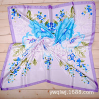 Spot One thousand tales Satin Sunflowers scarf wholesale 2013 latest printing large square silk satin perennial spot