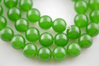 Wholesale 6mm Green Jade Stone Round Loose Beads